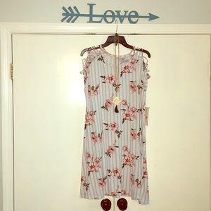 Dresses & Skirts - Blue striped rose mini